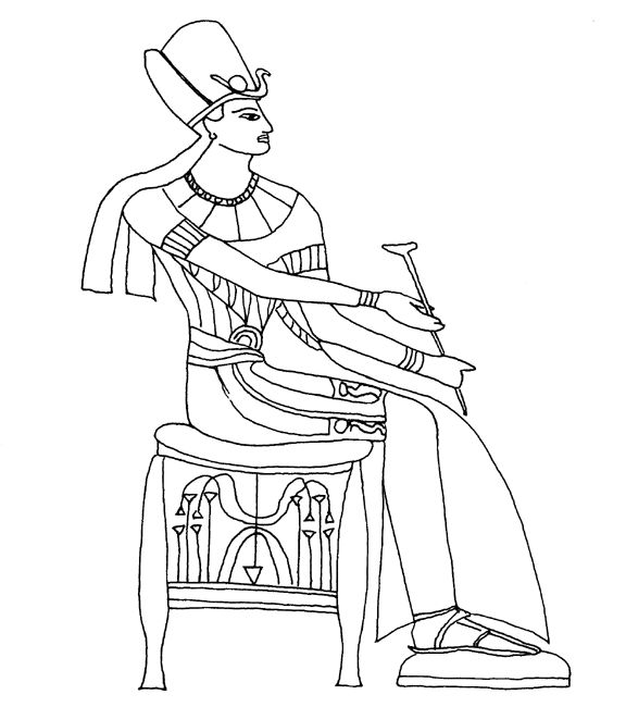 Egyptian Goblet Coloring Pages