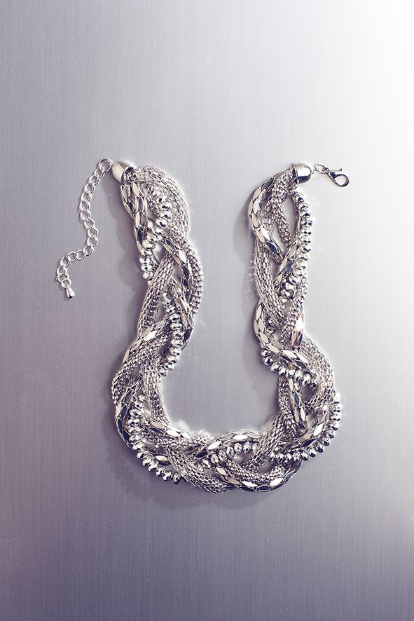 Twisted statement necklace. Shop online at www.truworths.co.za