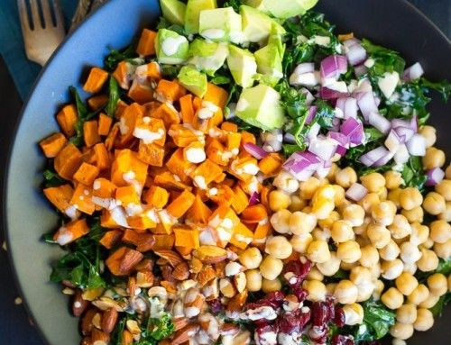 Chopped Kale Power Salad with Lemon Tahini Dressing – She Likes Food