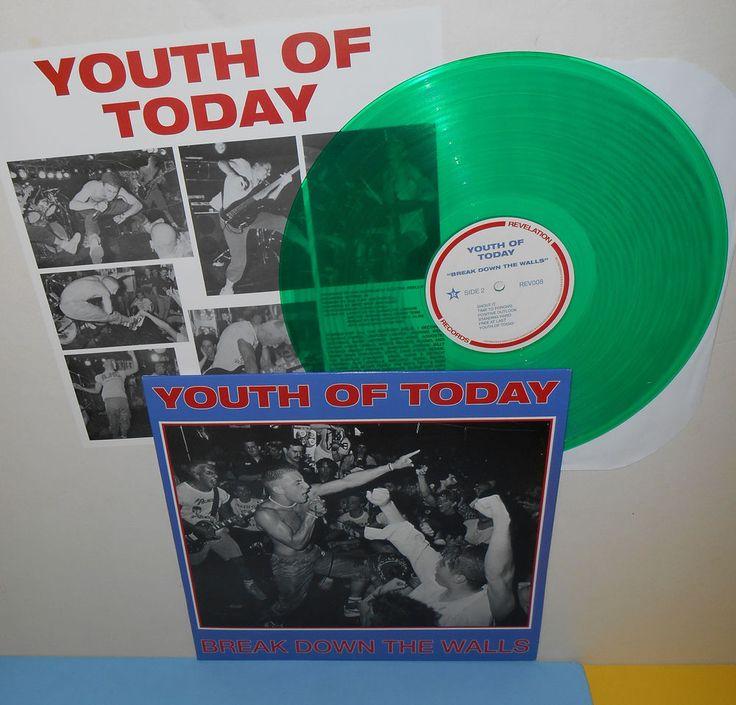 YOUTH OF TODAY break down the walls LP Record GREEN Vinyl , #PostRockhardcorepunk