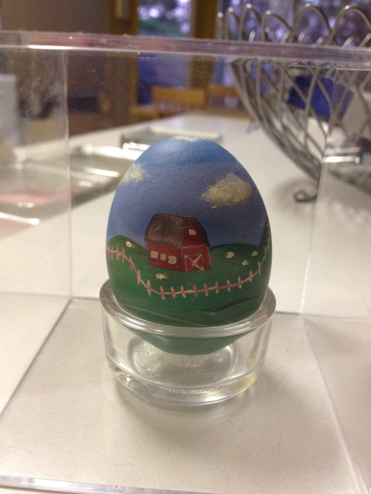 This was the first egg I painted.