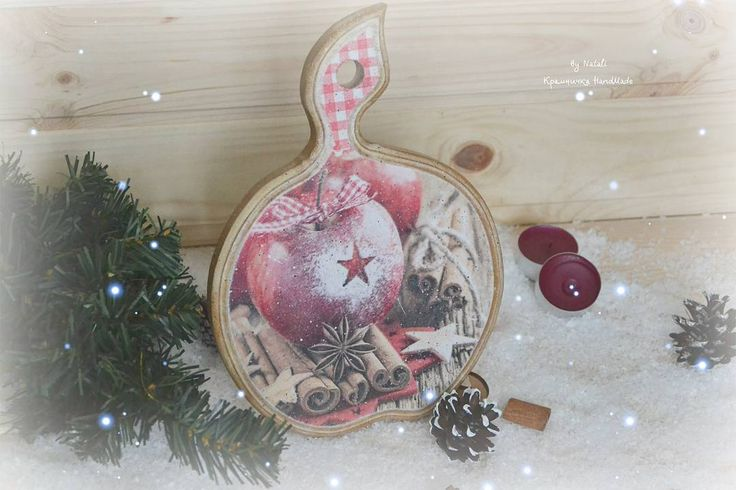 """🍎 Досочка """"Яблоки с корицей"""" Отличный подарочек к Новому Году🎁🎄 _______________ #крамничка_HandMade #новыйгод2017 #уютвдоме #подарокручнойработы"""