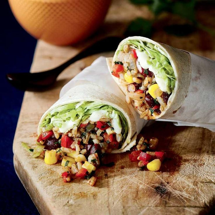 Burritos aux haricots rouges