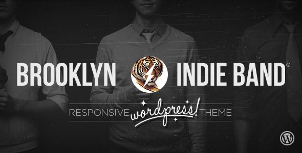 Brooklyn Indie Band - Responsive Wordpress Theme