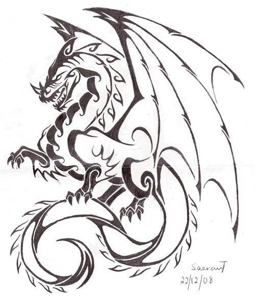 dibujo dragon medieval - Buscar con Google