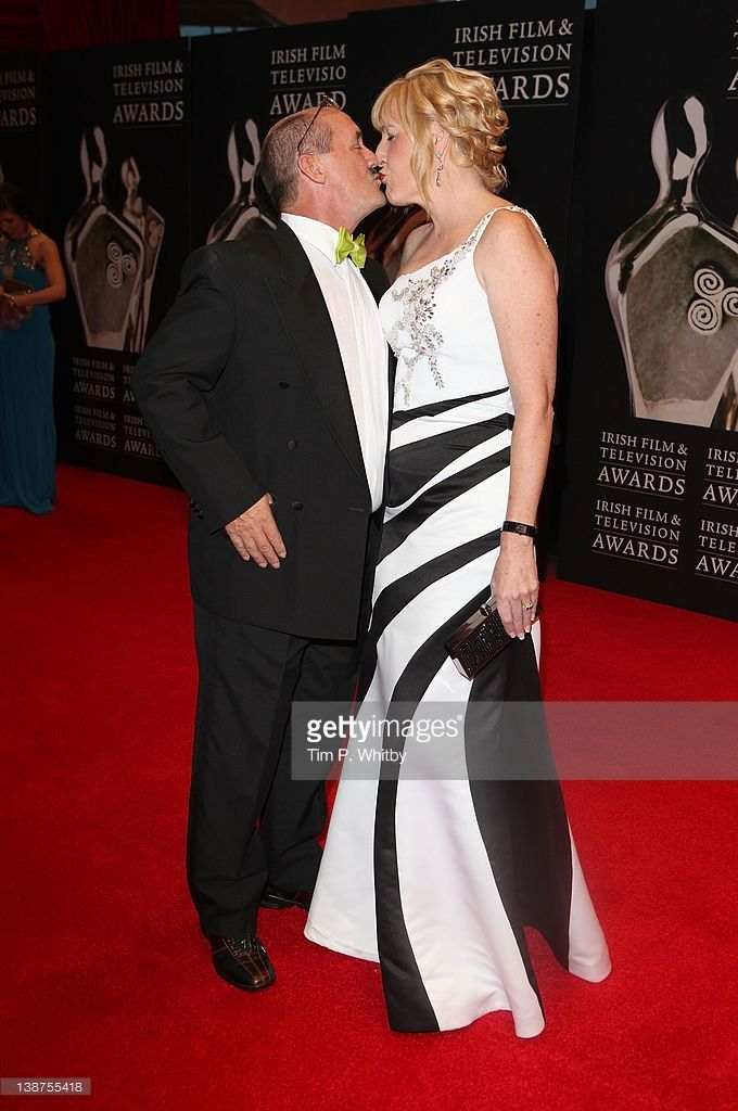 Brendan O'Carroll and Jennifer Gibney arrive for the Irish Film and Television Awards 2012 at the Dublin Convention Centre on February 11, 2012 in Dublin, Ireland.