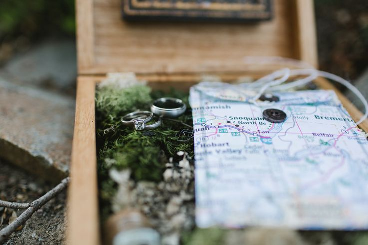 Jess Hunter photography, Seattle mountain elopement photographer, Mt. Rainier elopement in Washington state, epic wedding locations, best elopement photography, Pacifc Northwest wedding, adventurous elopement, hiking in a wedding dress, ring box idea