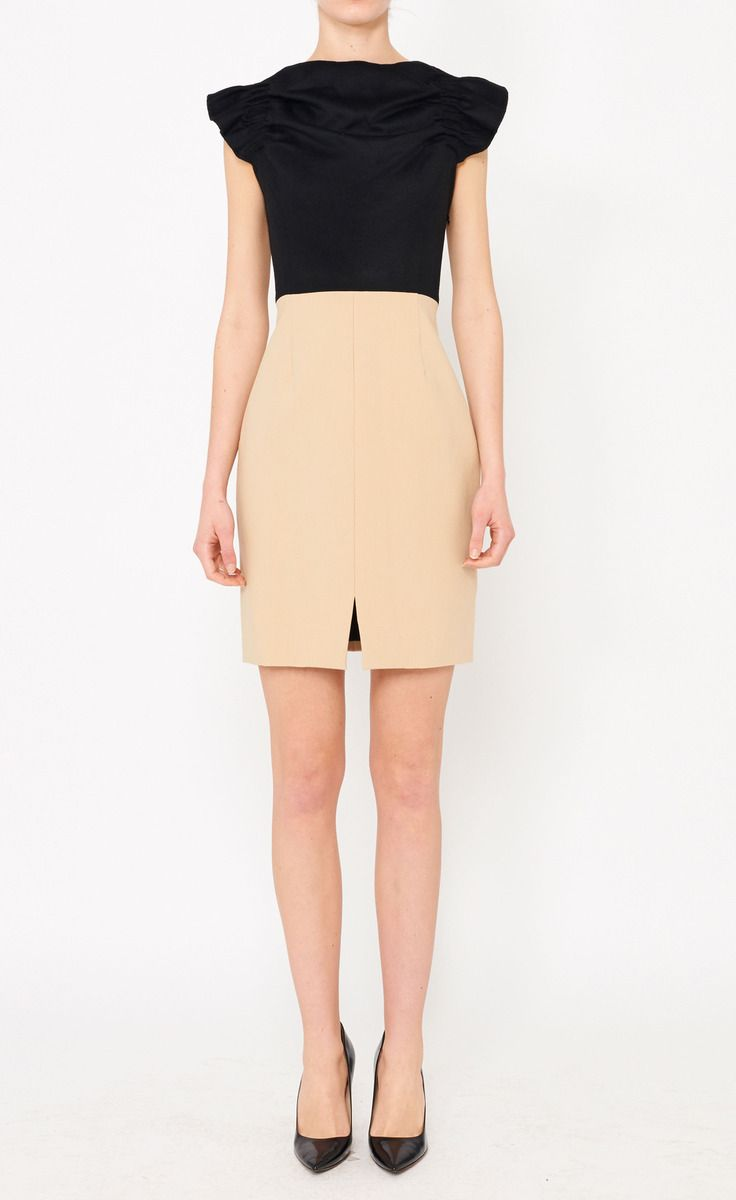 Thakoon Black And Beige Dress | VAUNTE