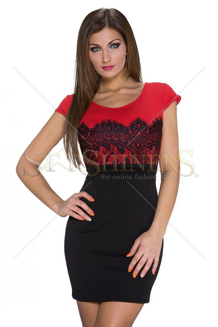 Elegant Girl Red Dress