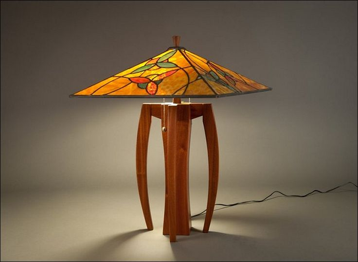Stained glass lamp shade designs