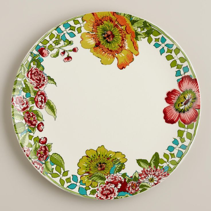 Made Of Earthenware With A Design Inspired By Nomadic Artwork Our Exclusive Dinner Plates Set