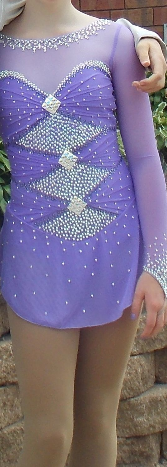 Dazzling Crystal Sparkle Lilac Girl's Competition Figure Skating Dress   eBay