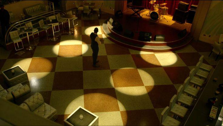Be inspired by lighting and decor from the hit TV series Luke Cage! Read more: http://filmandfurniture.com #LukeCage #tvshow #lighting #decor #interiordesign #designinspiration #homedecor #chandelier
