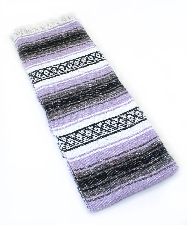 These Classic Mexican Yoga Blankets can be used in a variety of ways.  Use for cushioning, warmth, or support in your yoga practice.  A great, versatile yoga prop.  Or, just use this blanket around the house.
