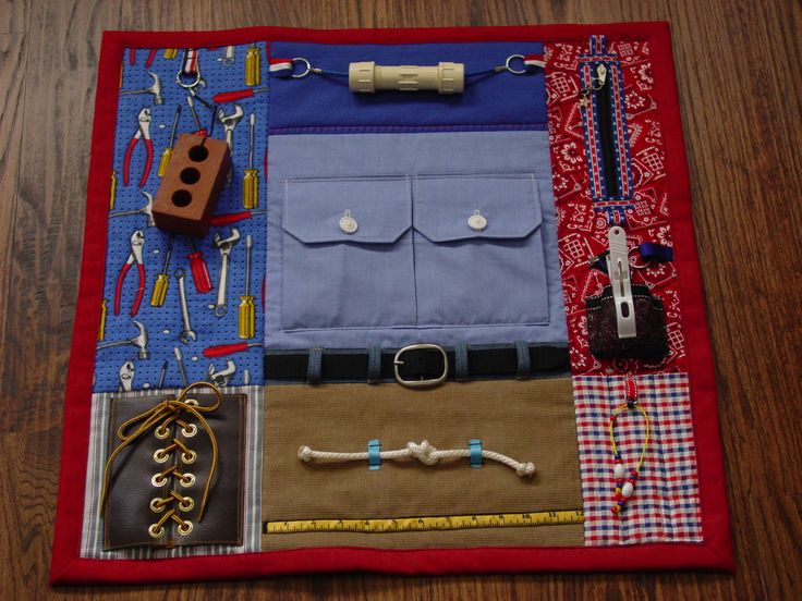 Busy Man Fingers Fidget Quilt Tactile Fun and by EndearingDignite                                                                                                                                                                                 More