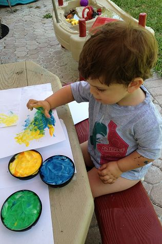 find this pin and more on toddler art - Toddler Painting Games