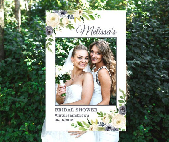 Size 24x36/'/' Instant Download Photo Prop Frame Bridal Shower Template Editable Text