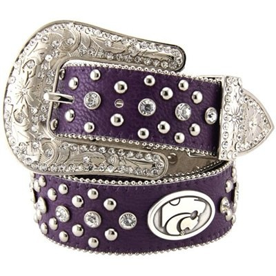 Kansas State Wildcats Ladies Glitz Leather Belt - Purple