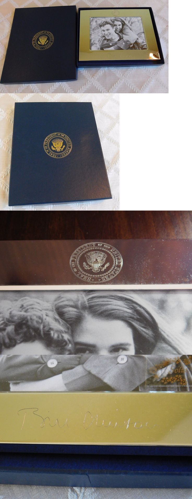 Bill Clinton: Bill Clinton Presidential Seal White House Gift Silver Picture Frame Authentic -> BUY IT NOW ONLY: $150 on eBay!