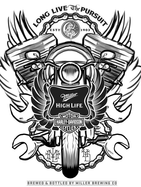 086 - Miller High Life by Joshua M. Smith, via Behance