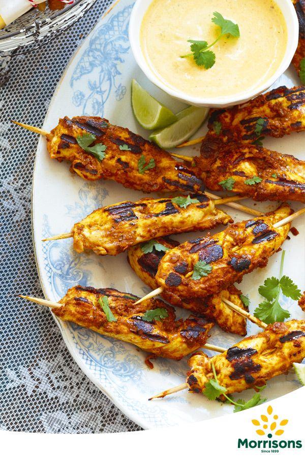 Coronation Chicken Sticks with Spicy Mango Dip