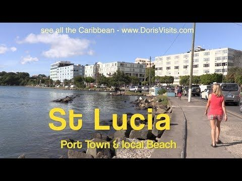 St Lucia, Port Castries and local Beach | Doris Visits