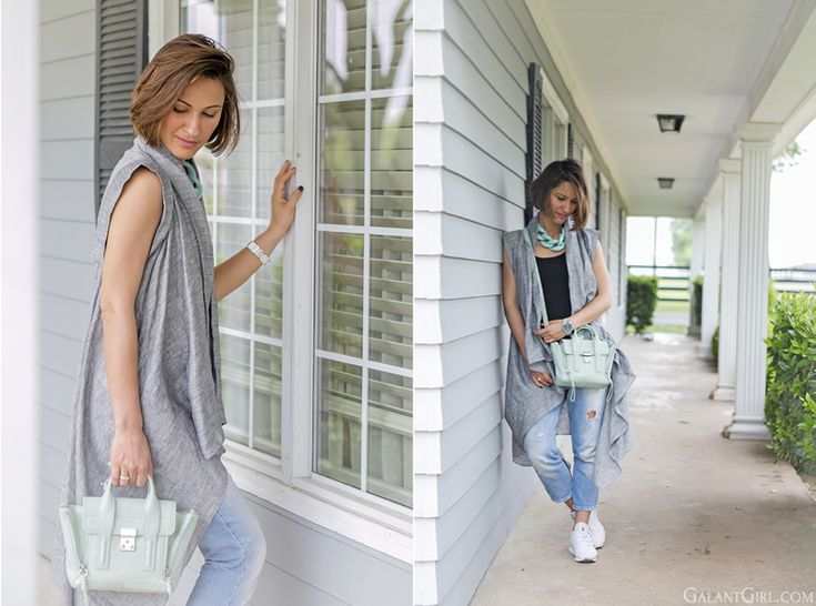 casual outfit for trip with 3.1 Phillip Lim Pashli mint color