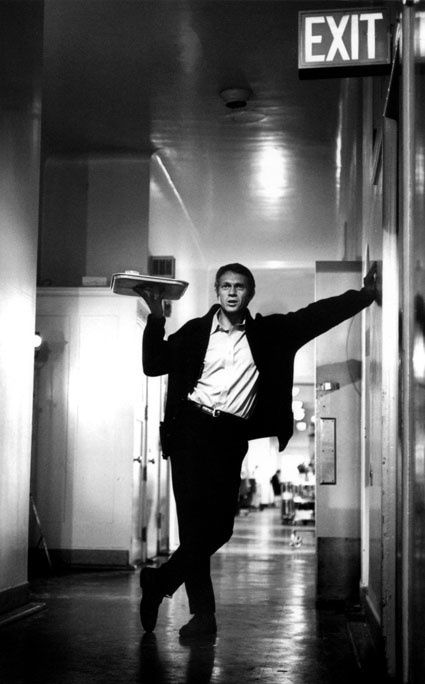 Steve McQueen - Photographed on the set of Bullitt by Barry Feinstein.