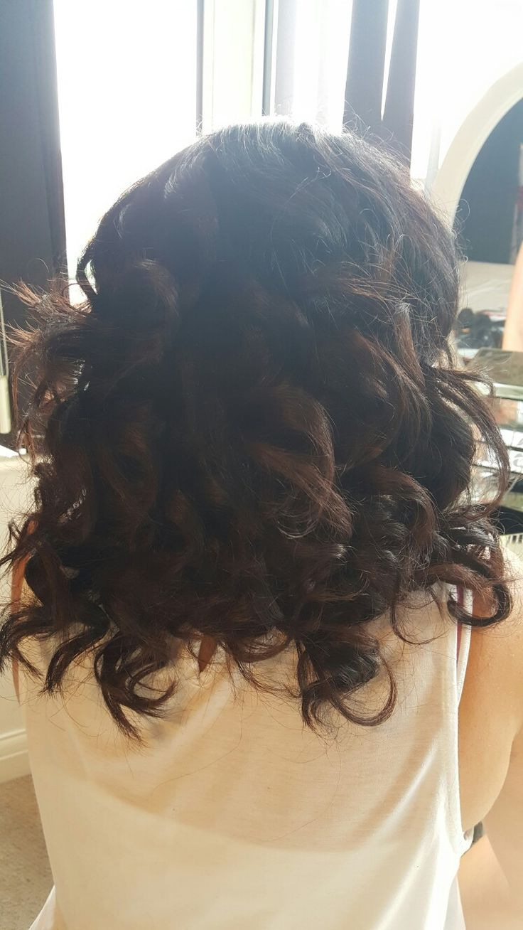 Curls on mums hair used with babyliss straightners