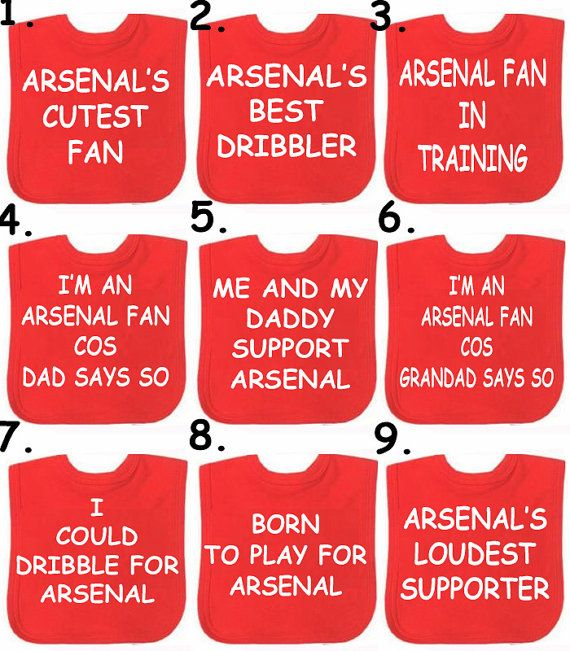 MAN UTD  ARSENAL Liverpool Football set  Choose your slogan you can have any team in the world on Etsy, £8.99