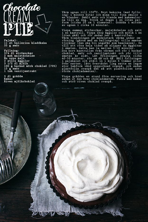 Chocolate cream pie | Linda Lomelino