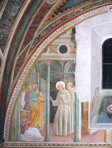 Pierantonio Mezzastris - Storie di San Bernardino - affresco - Cappella Eroli, Chiesa di San Francesco, Narni (Umbria)