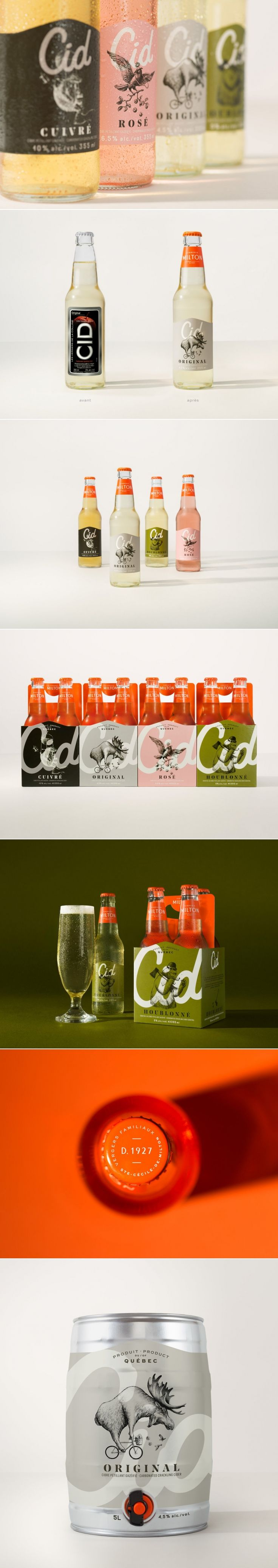 Cid is the Cider Where Classy Meets Fun — The Dieline   Packaging & Branding Design & Innovation News