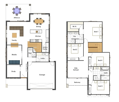 House design to suit 12 5 wide block our temporary home for Home plans and designs 100m2