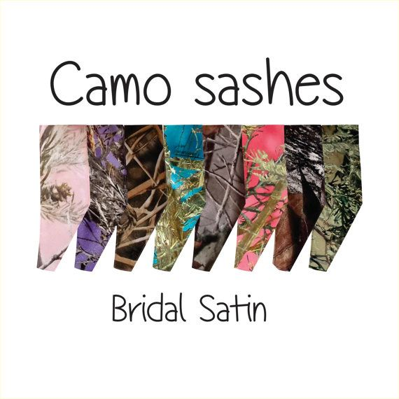 Camo sash camouflage belt realtree mossy oak true timber orange pink white purple and more