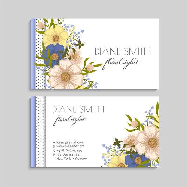 Download Flower Business Cards Blue Flowers For Free Floral Business Cards Flower Business Wedding Florist Logo