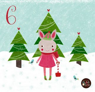 FlossieandFig: A Bunny Out In The Snow - Advent Day 6