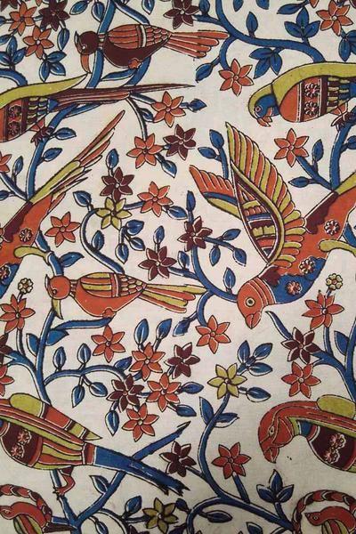 Kalamkari Block Printed Cotton Cut Fabric