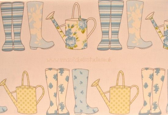 Thornbury Collection – Elsie - Wellies and Watering Cans – Spring – Ashley Wilde
