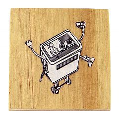 Weld Corp pin in Ink, paper collage, plywood, acrylic lacquer, metal brooch fitting by Patricia Denis - $55 http://www.lordcoconut.com/shop/weld-corp-brooch/