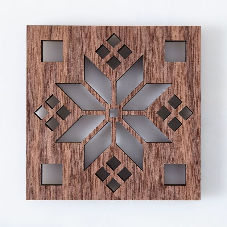 Laser-Cut Walnut Scandinavian Trivet #food52