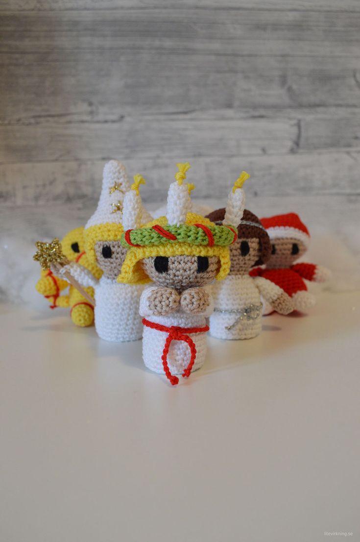 LiteVirkning - Virkat Luciatåg - crochet lucia