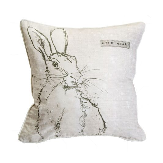 Wild Heart Hare Pillow by Graham & Brown