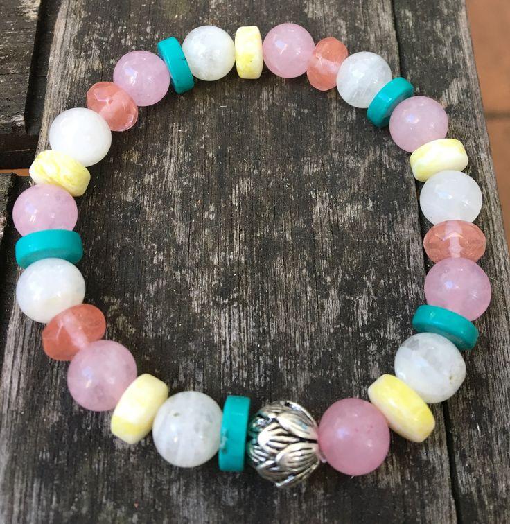 Fertility and IVF Bracelet made from Rose Quartz, Moonstone, Cherry Quartz, Turquoise and Jade https://www.facebook.com/CrystalBlissReikiJewellery/?ref=bookmarks