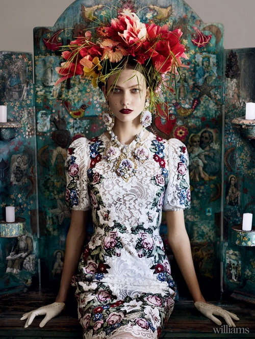 Karlie Kloss for US Vogue, July 2012, by Mario Testino ...