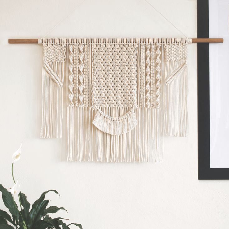 Joie | One of a kind handmade Macramé wall hanging by Macramé Mons. One piece revealed each fortnight on a Monday ✖️