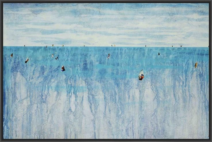 RELAY III 22L X 28H Floater Framed Art Giclee Wrapped Canvas