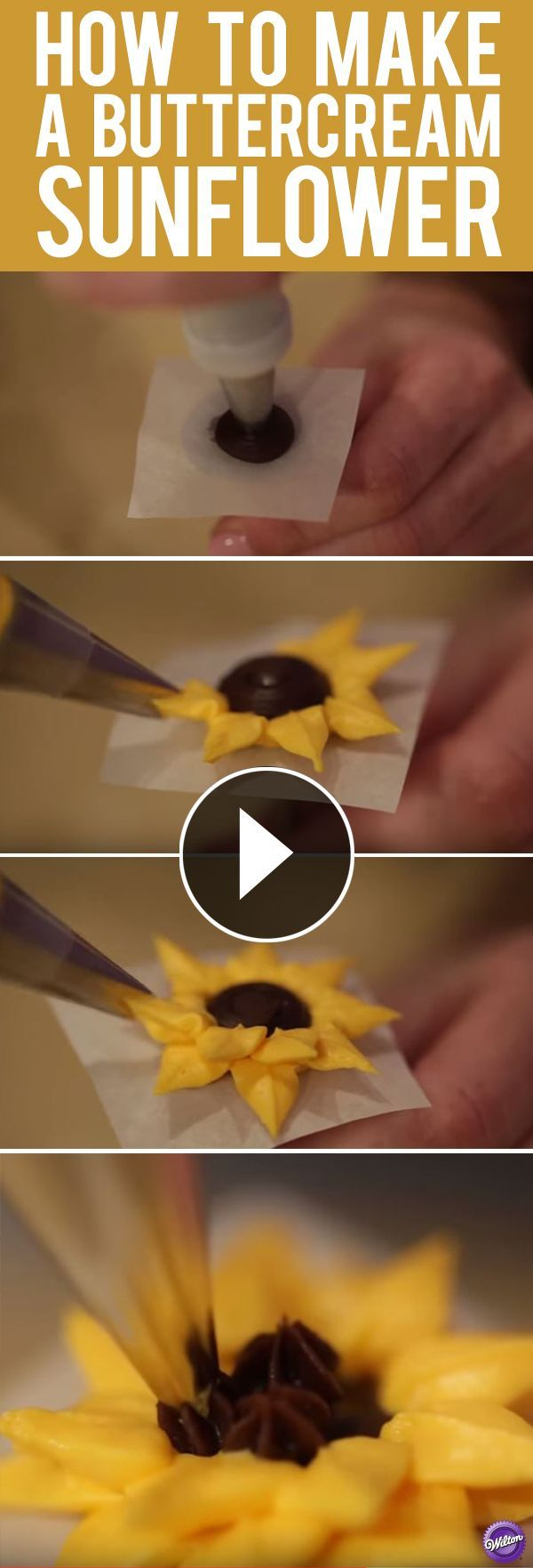 Learn how easy it is to make a buttercream sunflower. This simple flower looks adorable topped on top of a cake or cupcake.