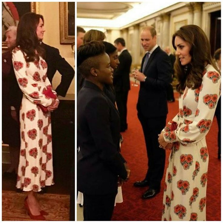 The Duke and Duchess of Cambridge with other members of the royal family at a reception at Buckingham Palace for Team GB and Paralympics GB medallists from the 2016 Rio Olympic and Paralympic Games. Catherine is wearing a dress by Alexander McQueen.  18 October 2016 . . . . .