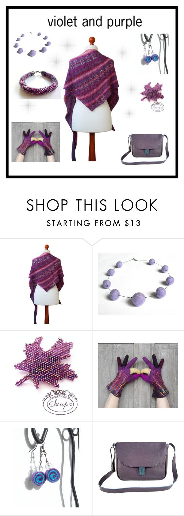 """Violet and purple"" by marudafelting ❤ liked on Polyvore featuring purple, violet, filcalki and MarudaFelting"